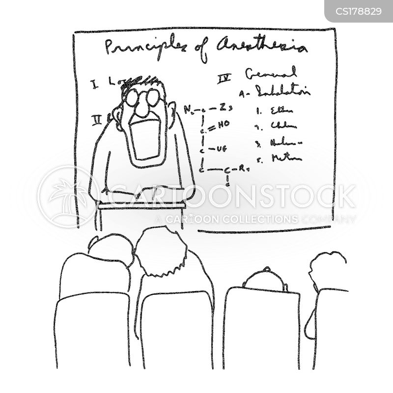 lecturing cartoon