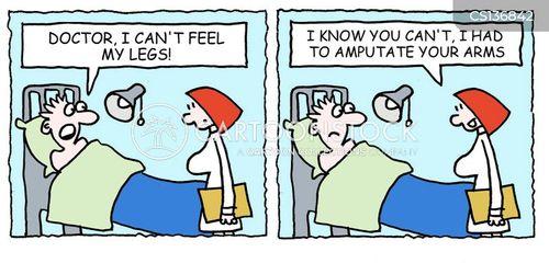 amputating cartoon