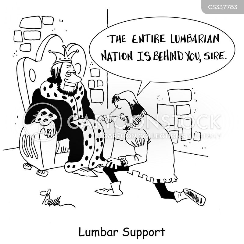 lumbar support cartoon