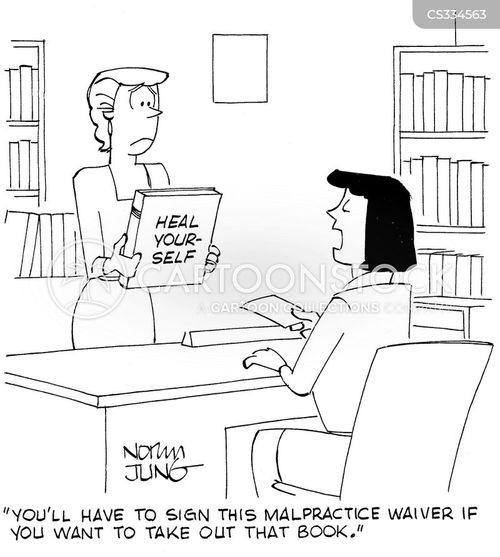legal waivers cartoon