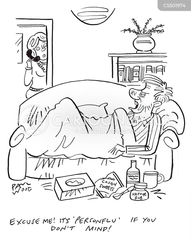 man-flu cartoon