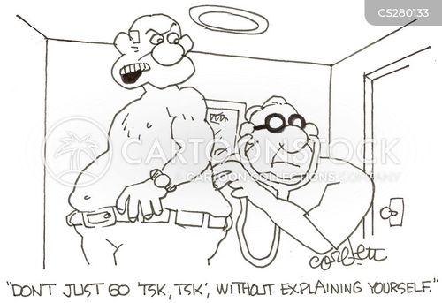 explaining yourself cartoon