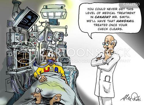 american healthcare cartoon