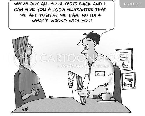 medical checks cartoon