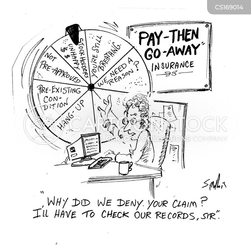 insurance claim cartoon