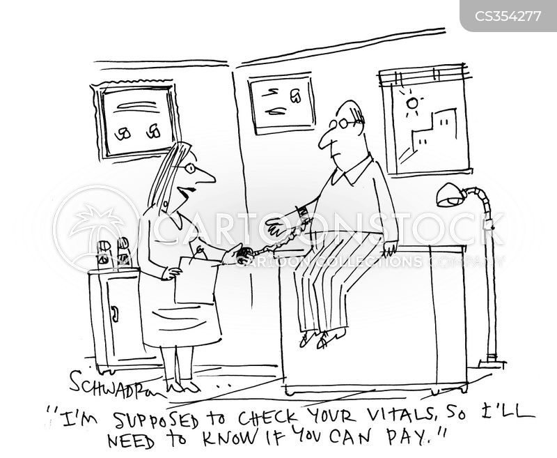 medical check cartoon