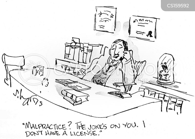 medical licenses cartoon