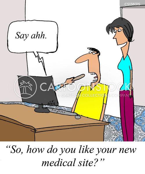 online doctor cartoon