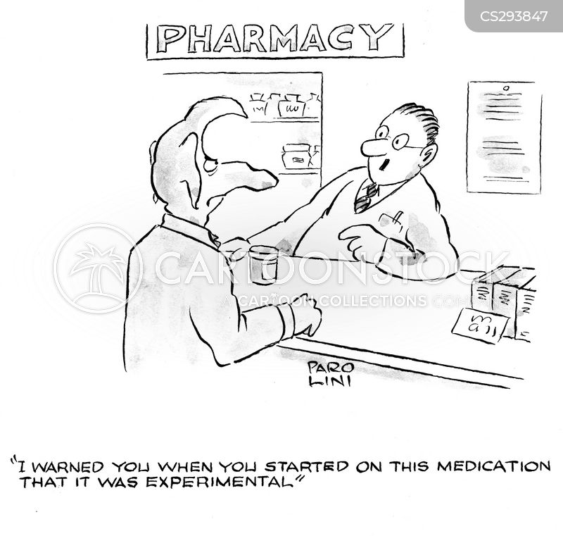 experimental medication cartoon