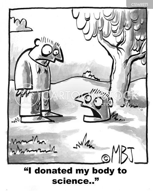 donate body to science cartoon