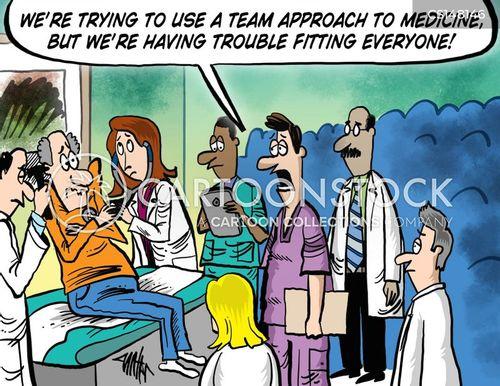 medical teams cartoon