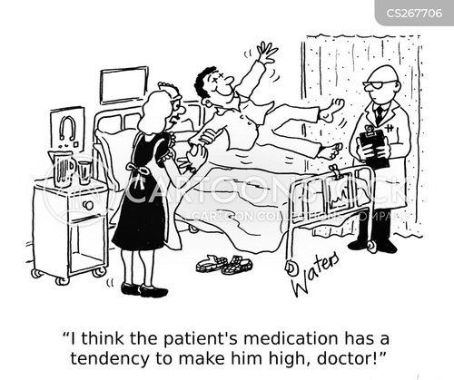 taking medication cartoon