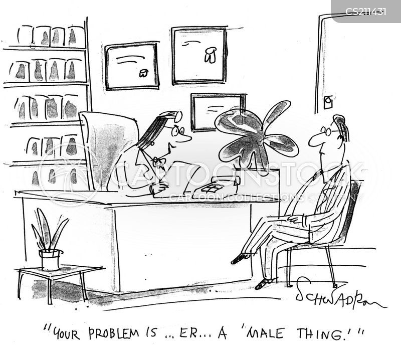 male problems cartoon