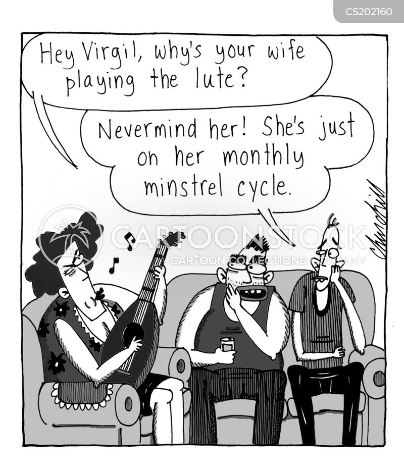 menstrual cycles cartoon