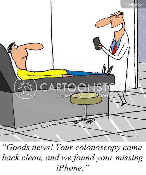 colonscopies cartoon