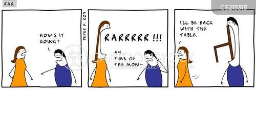 pre menstrual tension cartoon
