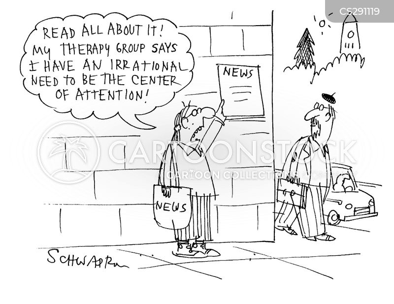 centre of attention cartoon