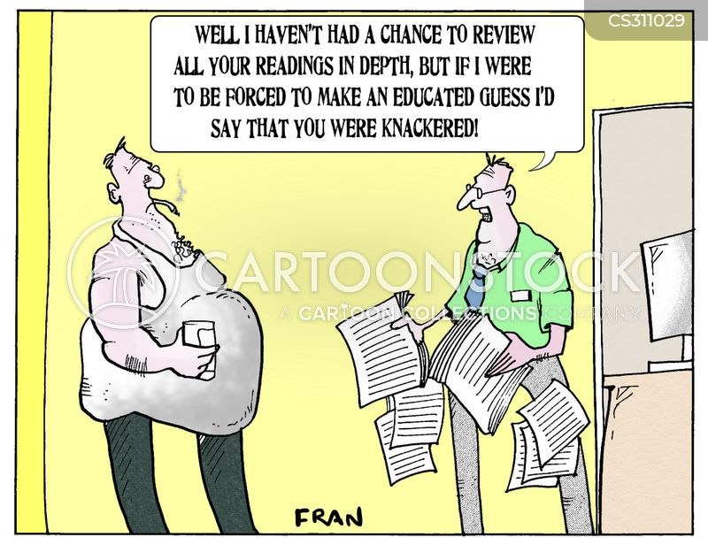 health test cartoon