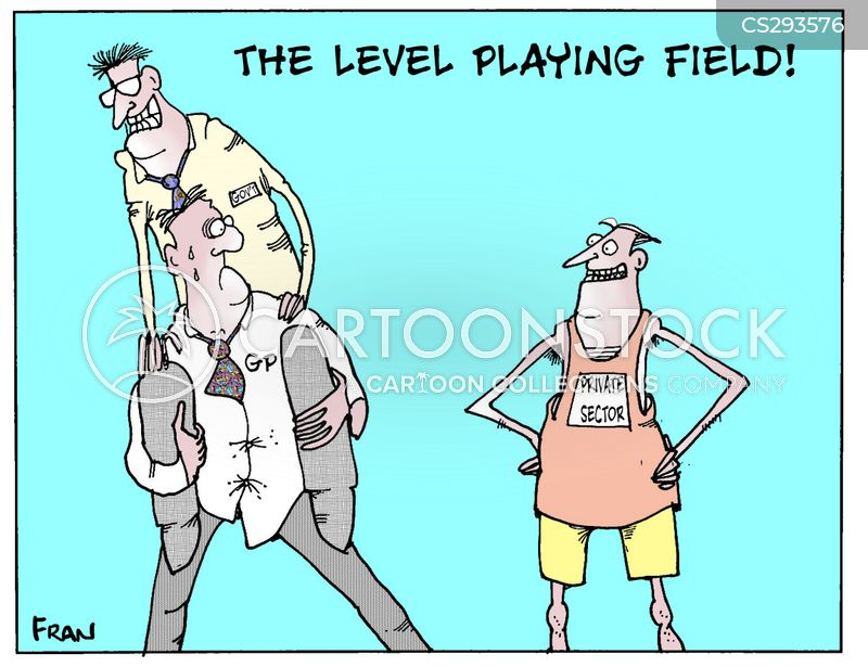 level playing field cartoon