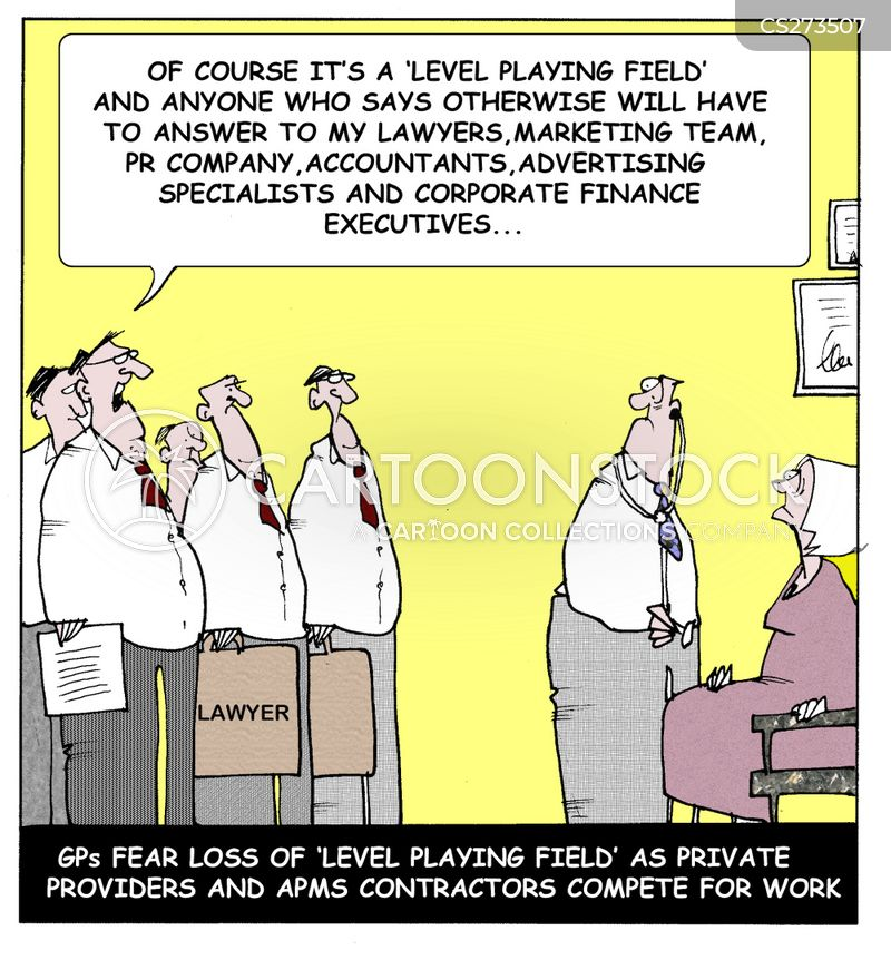 level playing fields cartoon