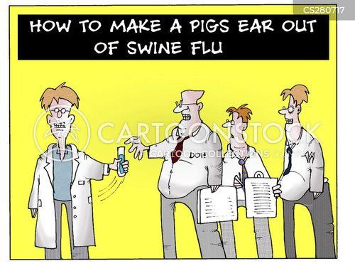 flu jab cartoon