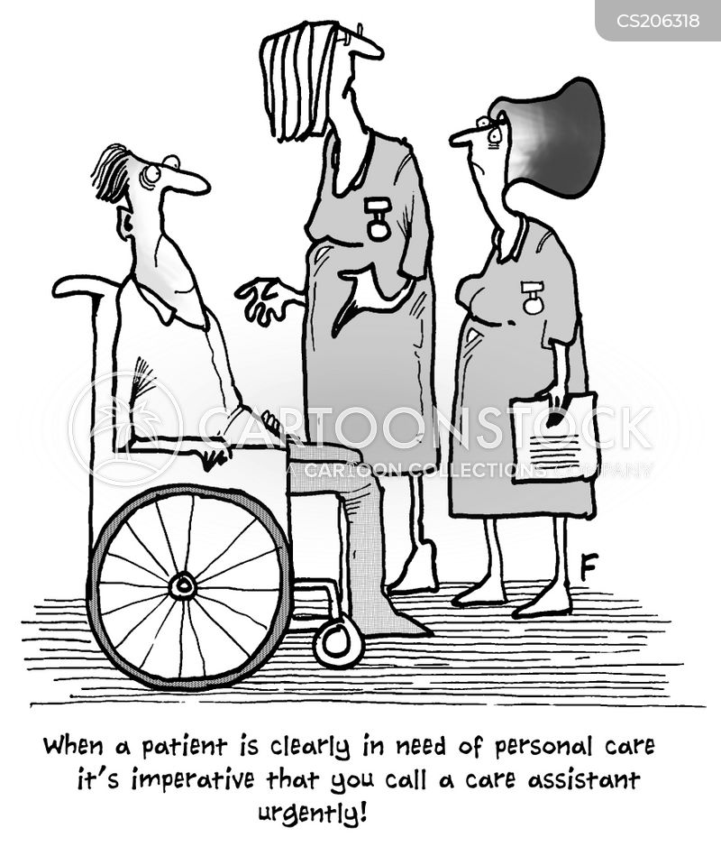 'When a patient is clearly in need of personal care it's imperative that you call a care assistant urgently!'