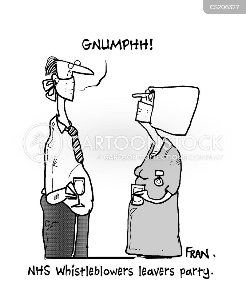 Image result for whistleblowing doctor cartoon