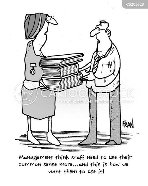 manuals cartoon