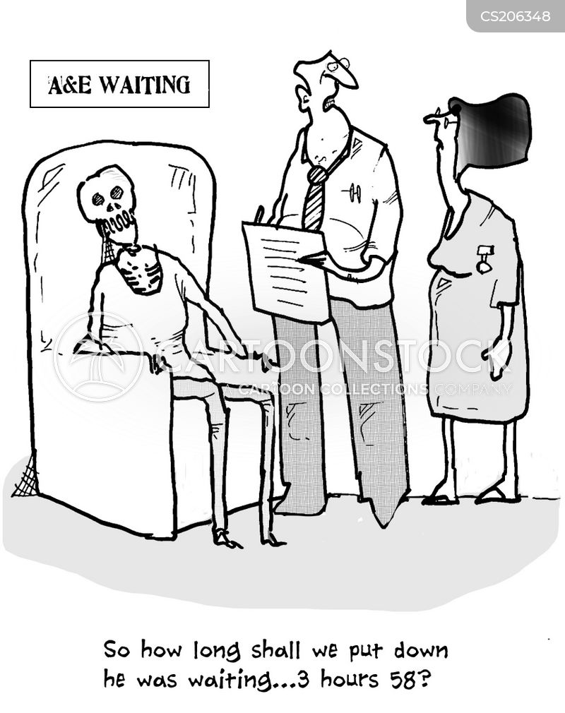 Image result for waiting NHS lists cartoon