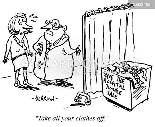 jumble sale cartoon