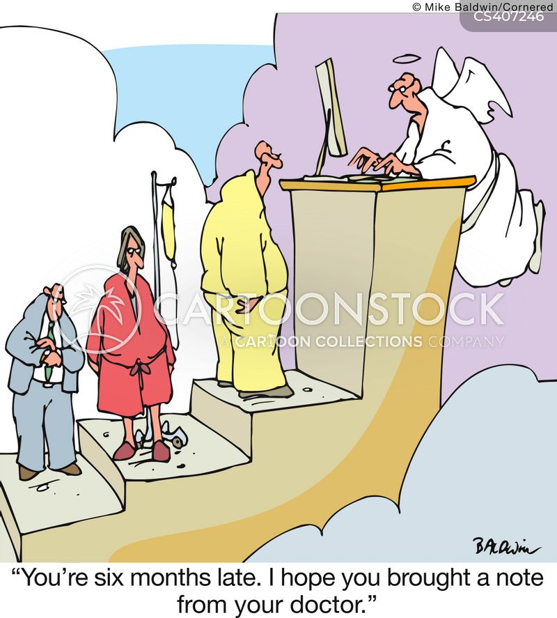 near-death experience cartoon