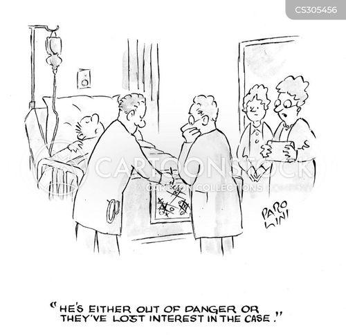 visiting hospital cartoon