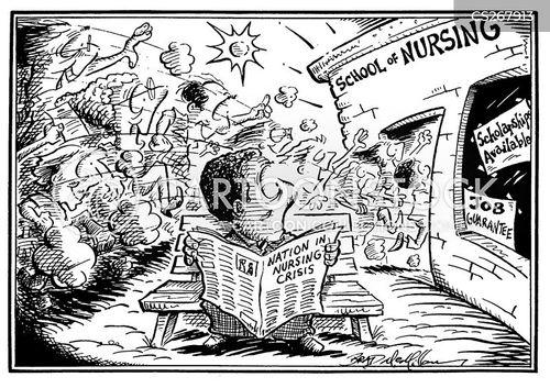 staff nurses cartoon