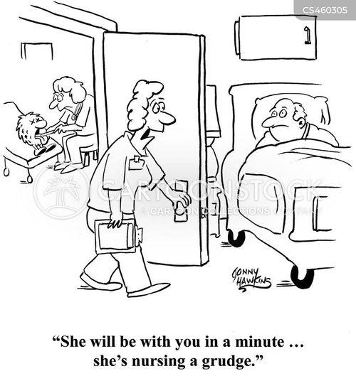 nursing a grudge cartoon