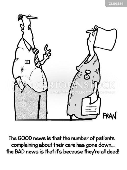 hospital care cartoon