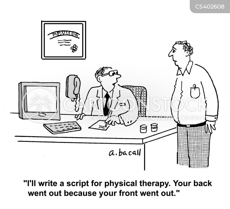 physical therapies cartoon