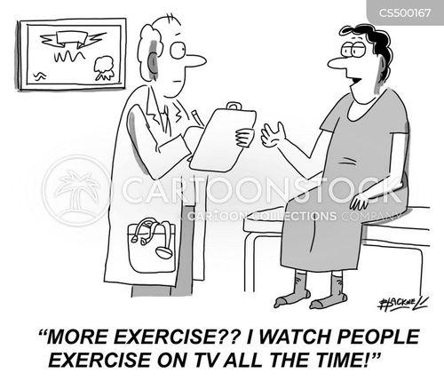 exercise routine cartoon