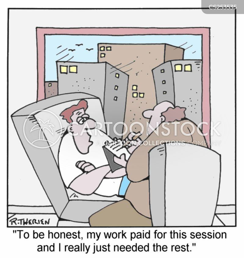 rest and recover cartoon
