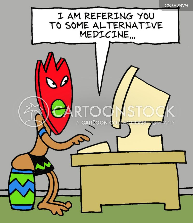 complementary therapies cartoon