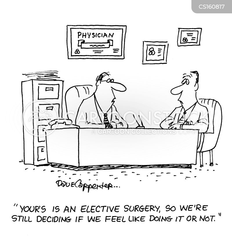 elective surgery cartoon