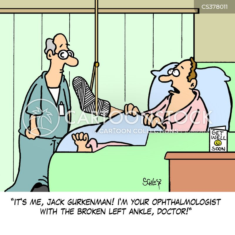 broken ankle cartoon