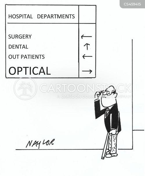 hospital department cartoon