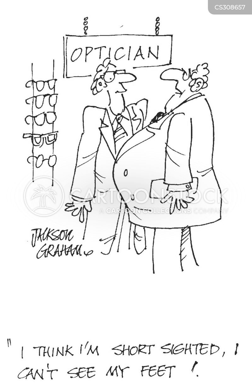 shortsighted cartoon