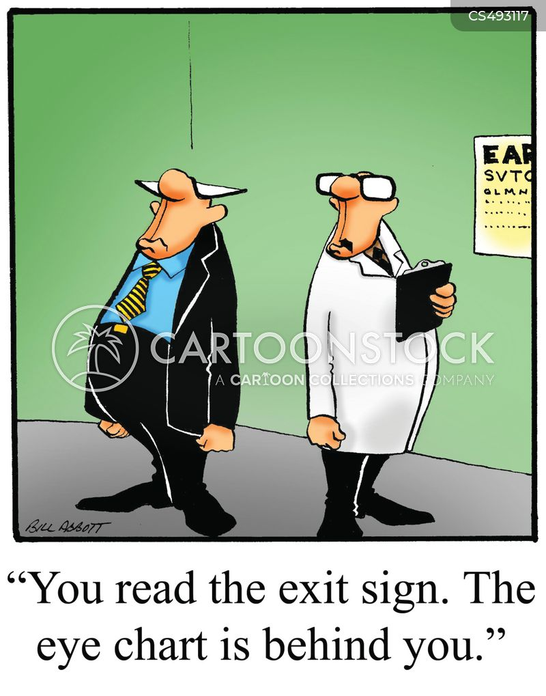 exit signs cartoon