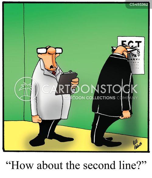 vision test cartoon
