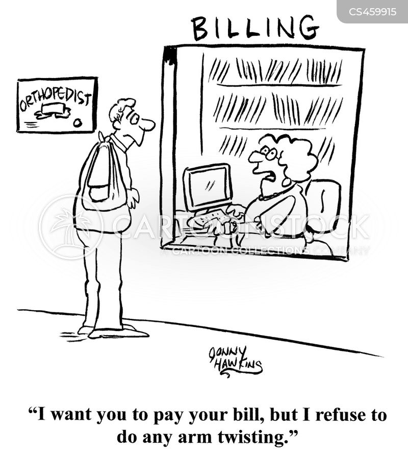 getting one to pay bill cartoon