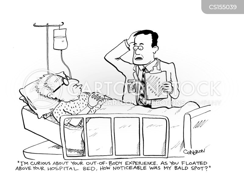 near-death cartoon