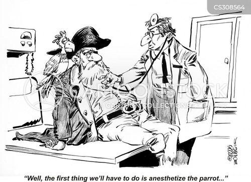 anesthetize cartoon