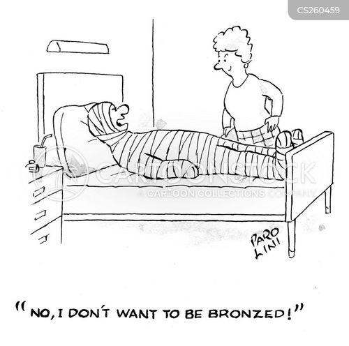 bronzed cartoon