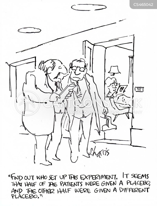 medical trial cartoon